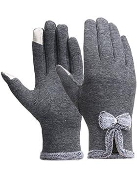 Magic Zone Damen Touchscreen Handschuhe Winter dicke warme gefüttert smart schreiben Handschuhe