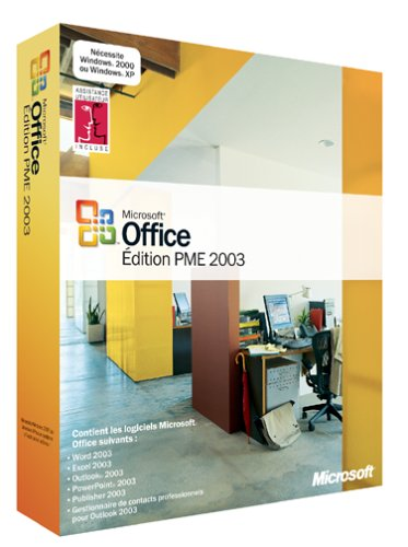 Office 2003 PME (Word, Excel, Outlook, PowerPoint, Publisher, Gestionnaire de Contacts Professionnels)