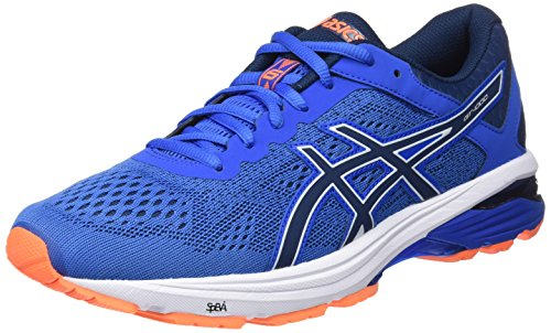 Asics Zapatillas De Running GT 1000 6, Hombre, Azul (Victoria Dark Blue/Shocking Orange 4549), 44.5 EU