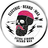 Cera per barba e baffi, fissaggio forte, Electric Beard Wax, 60 ml Super resistente, super fissaggio
