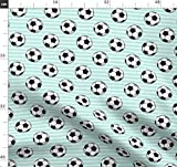 Fußball, Sport, Streifen, Stoffe - Individuell Bedruckt