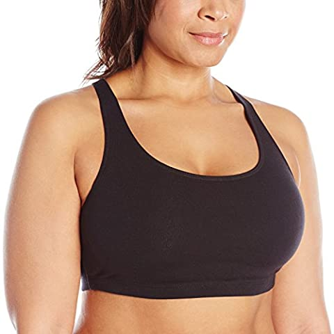 Leading Lady womens Soft Sport Bra  - black