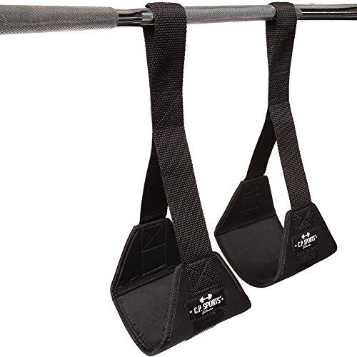 C.P. Sports Zughilfen Bauchtrainingsschlaufen, Schwarz, One size