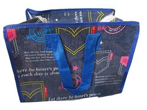 Blue denim jeans style recyceltem umweltfreundlich, wasserdicht, lunch, Damen Shopper, Handtasche, Reisetasche (Umweltfreundliche Jeans)