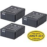 TOP-MAX® 3pcs Battery for GoPro HD HERO3 HERO3+ Camcorder - Replacement for GoPro AHDBT-201 / AHDBT-301 / AHDBT-302 / AHDBT-303 Battery