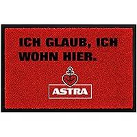 ASTRA Herzanker Fußmatte für Außen- und Innenbereich, Anti-Rutsch Schmutzfangmatte rot, Fußabtreter aus , ideales Geschenk zum Einzug