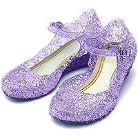 Katara–Scarpe con tacco ES10–Rapunzel, Sofia la principessa per costume per vestiti da bambina, colore: lilla