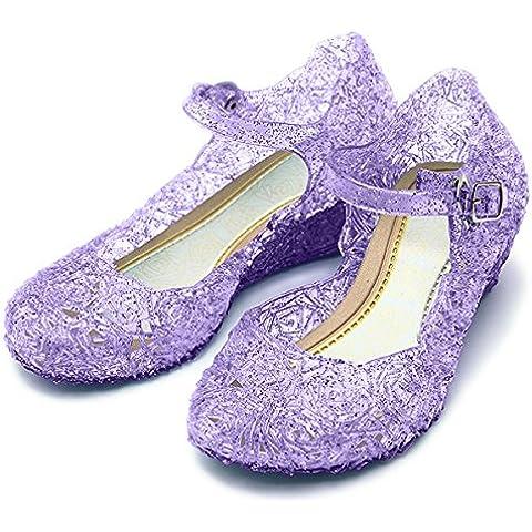 Katara ES10–Rapunzel, Scarpe con tacco Sofia la principessa per bambini, lilla