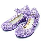 Katara Zapatos de Princesa Sofía Sandalias con Cuña - Niñas Talla UE.28 Violeta