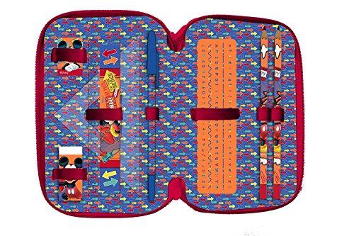 2a33215d03 Disney Kit Scuola 3 in 1, Zaino Estensibile, Astuccio 3 Zip Accessoriato e  Ombrello Salvaspazio Zainetto per Bambini, 40 Cm, Multicolore