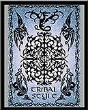Tattoo - Tribal Style - Mini Poster Fantasy Poster Tribals - Grösse 40x50 cm + Wechselrahmen der Marke Shinsuke® Mini aus schwerem MDF Holzfaserwerkstoff, Holzoptik schwarz - mit Acrylglas-Scheibe.
