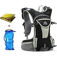 Lixada 12L Sports Rucksack/Schultergürteltasche mit 2L Trinkblase und Rettungsdecke