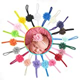 #1: Kupid® Baby Girl Toddler Chiffon Flower Elastic Headband -20Pc