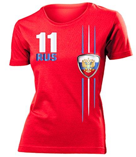 love-all-my-shirts RUSSLAND FANSHIRT STREIFEN 4312 Damen T-Shirt (F-R) Gr. S