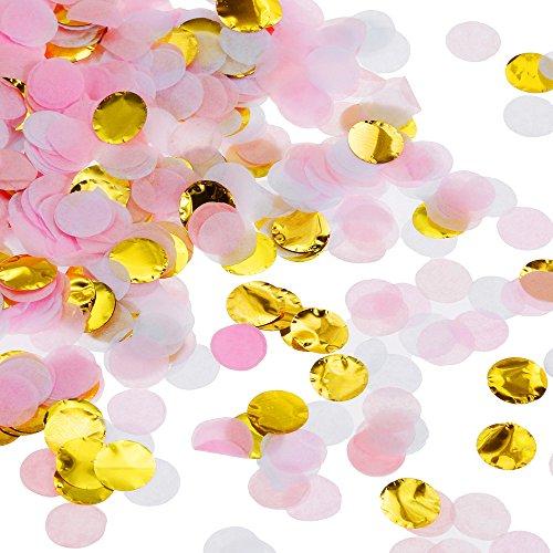Faburo Kleiner Papier Konfetti Tissue 7000*2 PCS Konfetti Bunt Farben für Party Hochzeit Feierlichkeit DIY