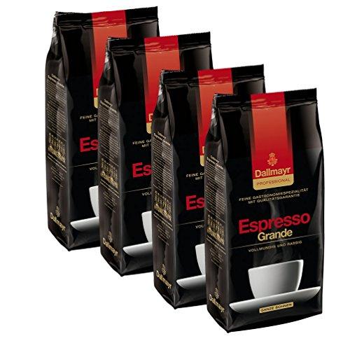 Dallmayr Professional Espresso Grande Ganze Bohnen, 1000g 4er Pack