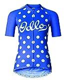 Odlo Ride – Kurzärmeliges Radtrikot für Damen mit Stehkragen und durchgehendem Reißverschluss M blau