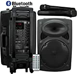 """Best Pa Systems - Portable PA 12"""" Speaker with Bluetooth USB SD Review"""