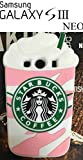 Cover 3D Starbucks Ice Cream Gelato Rosa in Silicone Morbida Custodia per Samsung Galaxy S3 Neo