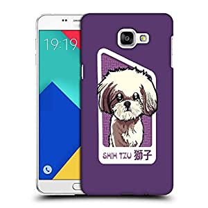 Snoogg Shih Tzu Puppy Designer Protective Back Case Cover For SAMSUNG A9