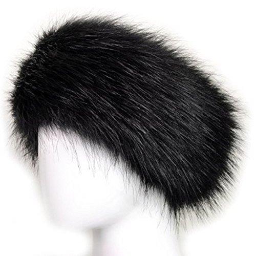 ladies-womens-long-hair-faux-fur-luxury-headband-black