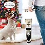 Dog Clippers, OMorc Low Noise Pet Clippers Rechargeable Cordless Dog Trimmer Pet Grooming Tool Professional Dog Hair Trimmer with 6 Comb Guides scissors for Dogs Cats and Other Animals Dog Clippers, OMORC Low Noise Pet Clippers Rechargeable Cordless Dog Trimmer Pet Grooming Tool Professional Dog Hair Trimmer with 6 Comb Guides scissors for Dogs Cats and Other Animals 51VCavJRsPL