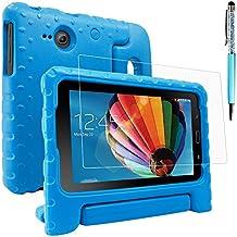 Funda Case para Samsung Galaxy Tab E Lite 7.0 con protector de pantalla y lápiz óptico, AFUNTA Funda de mango convertible EVA, cubierta de plástico PET y lápiz táctil para tableta de 7 pulgadas – azul