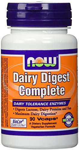 Dairy Digest Complete, 90 Vcaps - Now Foods - UK Seller - 51VCbcrQH3L