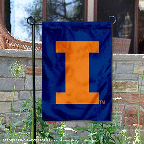 Nylon Flag (College Flags and Banners Co. Illinois Fighting Illini Nylon Bestickt Garten Flagge)