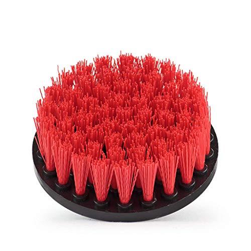 TPulling Drill Brush Power Scrubber Bürsten Set für Bad Bohrer Schrubber Bürste für die Reinigung schnurloser Bohrer Aufsatz Kit Power Scrub Brush (Rot, Einheitsgröße) - Teppich Extractor Kit
