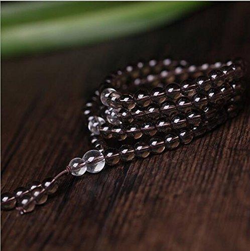K&C 108 conti 0:24 pollici di perline in naturale braccialetto braccialetto dell'involucro Chakra Stone Brown