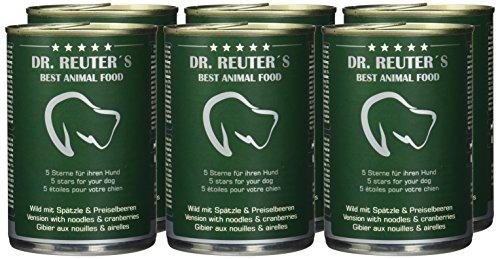 Dr. Reuter's Hundefutter Wild mit Spätzle und Preiselbeeren, 6er Pack (6 x 400 g) - 2
