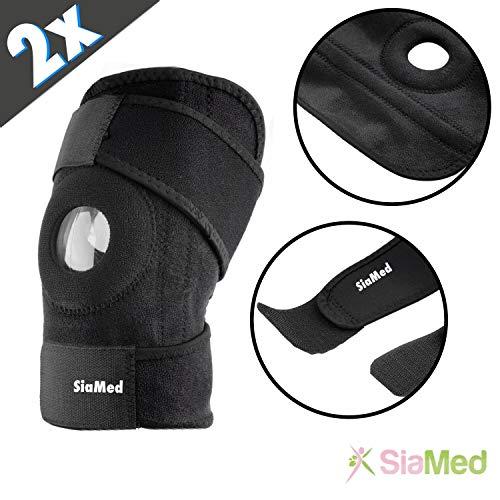 SiaMed 2x Kniebandagen rechts und links | Knieorthese Damen und Herren | Sport, Arbeit und Hobby | Knieschienen für optimale Unterstützung für Ihr Knie