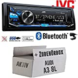 Audi A3 8L AKTIV - JVC KD-X341BT - Bluetooth | MP3 | USB | Android | iPhone Autoradio - Einbauset