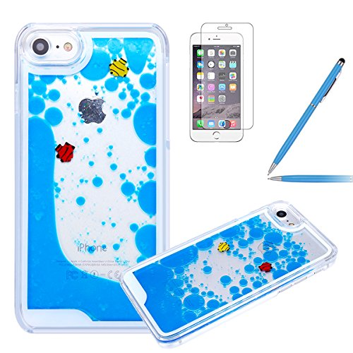 felfy-iphone-7-casiphone-7-coque-bling-glitter-sparkle-shiny-creative-3d-dual-layer-goldfish-aquariu