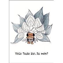romantischer Indianer Liebeskarte: Weiße Taube bist Du mein? Auch als Valentinskarte • auch zum direkt Versenden mit ihrem persönlichen Text als Einleger.