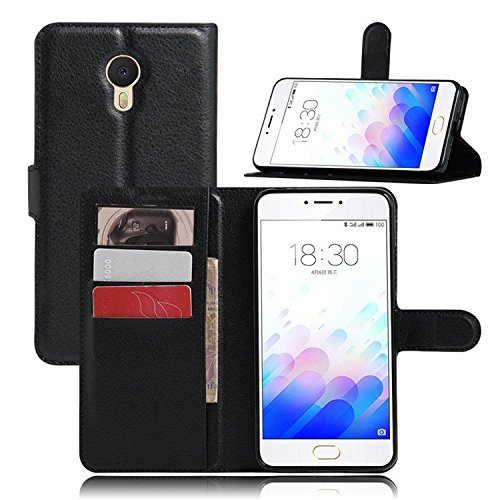 Badhiyadeal Premium Quality Leather Flip cover For Meizu M3 note – Black