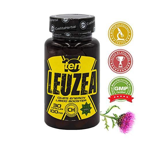 Leuzea carthamoides Max 30 kapseln Natürlicher Kräuterextrakt, Stärke, Ausdauer, Muscle Fuel Anabole Magermasse & Masse & Kraftgewinn, Muskelwachstumsaktivator -