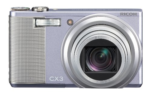 Ricoh CX3 Digitalkamera (10 Megapixel, 10-fach opt. Zoom, 7,6 cm (3 Zoll) Display) violett