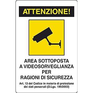 Cartello Segnalo Plastica Videosorveglianza 51VCfsyk6kL. SS300