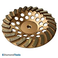 Turbo zımpara taşı beton ve tuğla için düzleştirebilir Leveling Texturierend spiral elmas segmente dişli için köşe bileyici 7 inch 24 segments SWS0724A5
