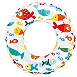 Aish N Bless Swimming Printed Safety Swimming Pool Ring Tube for Kids Boys and Girls Multi Color Pack of 1 (3-6 Years)