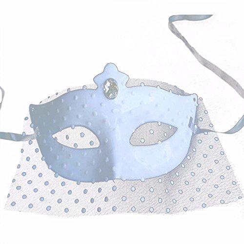 ,Make - up Abschlussball Maske sexy für Männer und Frauen Spitze volles Gesicht weiße Schleiermaske weiß 1 Masquerade ()