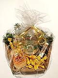 Pflegeprodukte vom Imker. Echter deutscher Honig, Honigseife, Propolis Pflegestift und Honig Bonbons. Geschenkkorb Naturprodukte