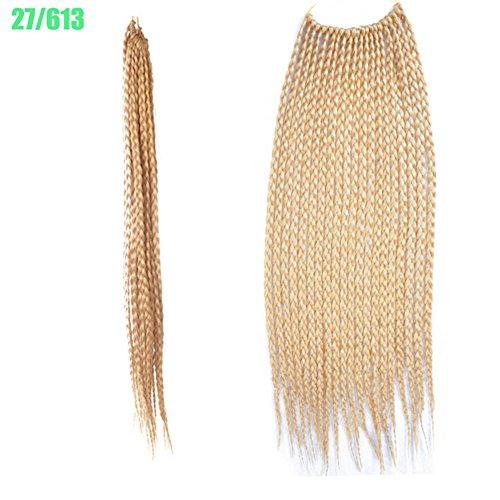 Rokoo, extension per capelli, treccine africane sintetiche con gancio, colore resistente, 60 cm