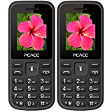 Peace P1 Black Red+ P1 Black Blue COMBO OF TWO Mobile Phones With 1.8 Inch, Dual Sim, 850 MAh Battery, Wireless FM, Bluetooth, Digitel Camera, Call Recording, MP4, Internet & 1 Year Warranty