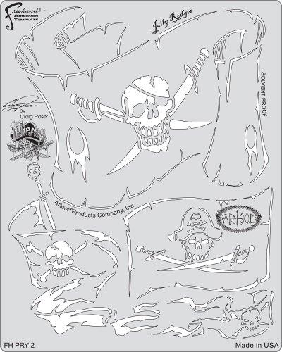 Artool Vorlage Fhpry2 Jolly Rodger (Airbrush Stencil Template Set)