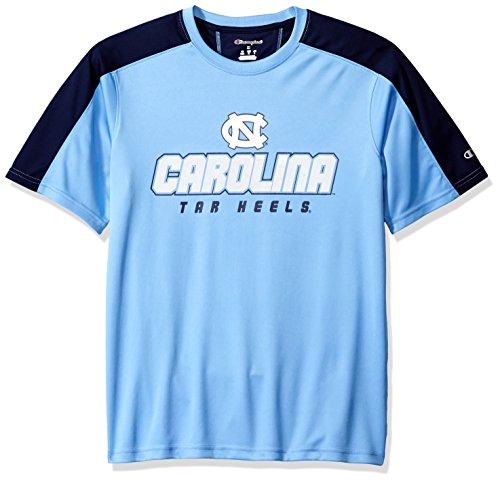 NCAA North Carolina Tar Heels Herren T-Shirt Impact Color Blocked Größe L, Blau -