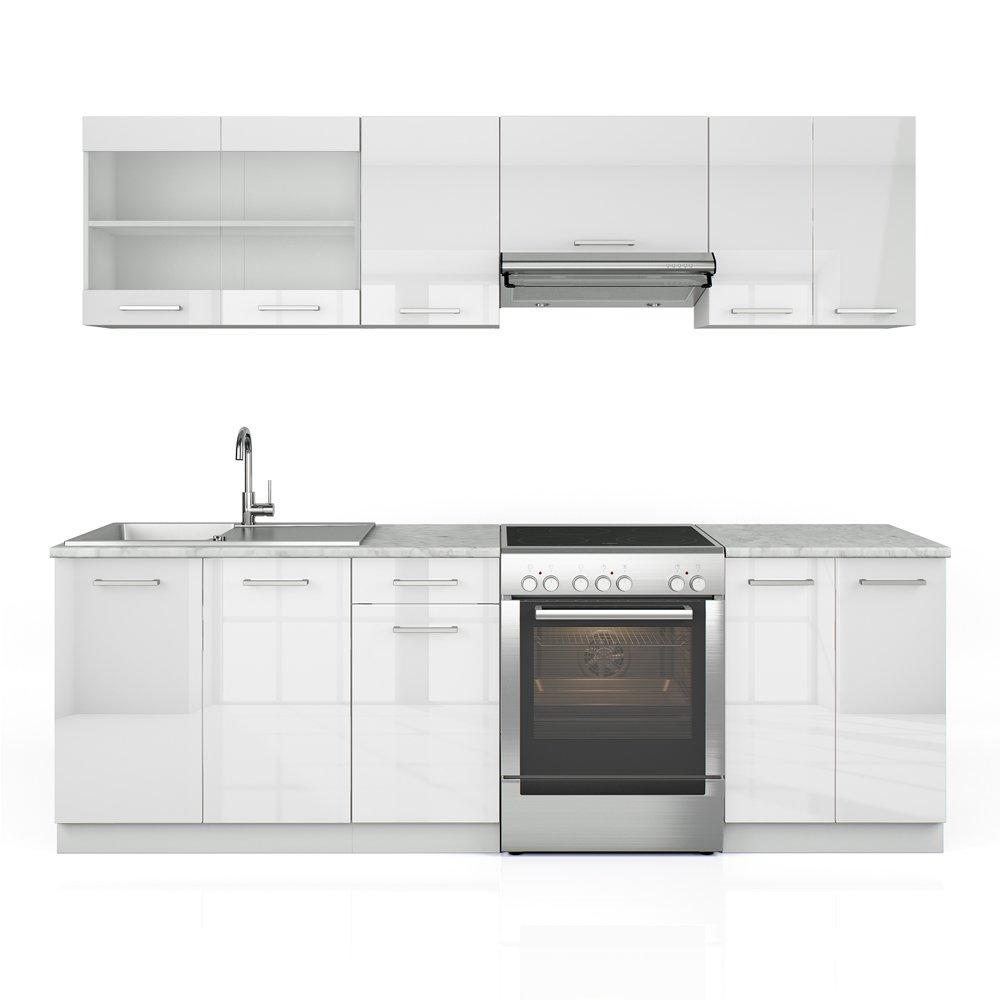 Küchenzeile 240 cm - 7 Schrank-Module frei kombinierbar - Küche ...