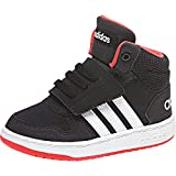 adidas Unisex Baby Hoops MID 2.0 I Gymnastikschuhe, Schwarz Core Black/FTWR White/Hi/Res Red S18, 25.5 EU